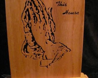 praying hands plaque