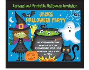 Halloween Invitations, Halloween Party Invitations, Personalised Halloween Invitation, Printable Halloween Invitation, Halloween Download,