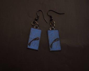 Shrink plastic, fish earrings