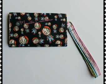 Zombie Chucky inspired Cell phone wristlet