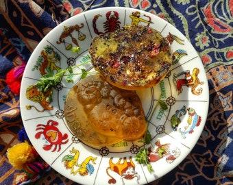 Zodiac Empowering Astrological Organic Honey Soap-Aquarius Pisces Aries Taurus Gemini Cancer Leo Virgo Libra Scorpio Sagittarius Capricorn