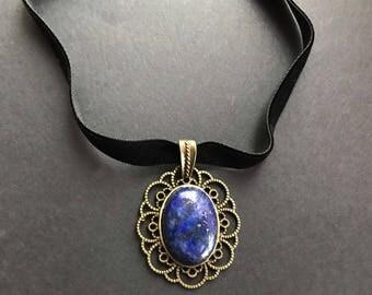 Edwardian Necklaces Victorian Choker Gemstone Choker Black Velvet Choker Edwardian Jewelry Grunge Jewelry Black Choker Trend Necklace