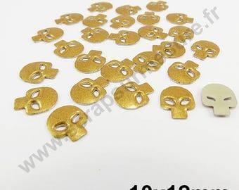 Fusible skull - gold Pearl - 10mm - x 25 PCs