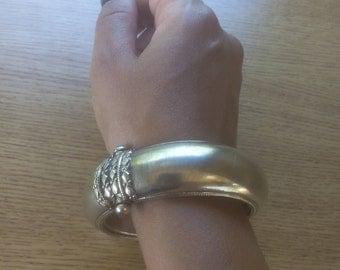 Old Thai Silver Plated Bangle Bracelet