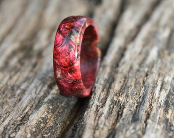 Fire Lily - Pink and Black Ring