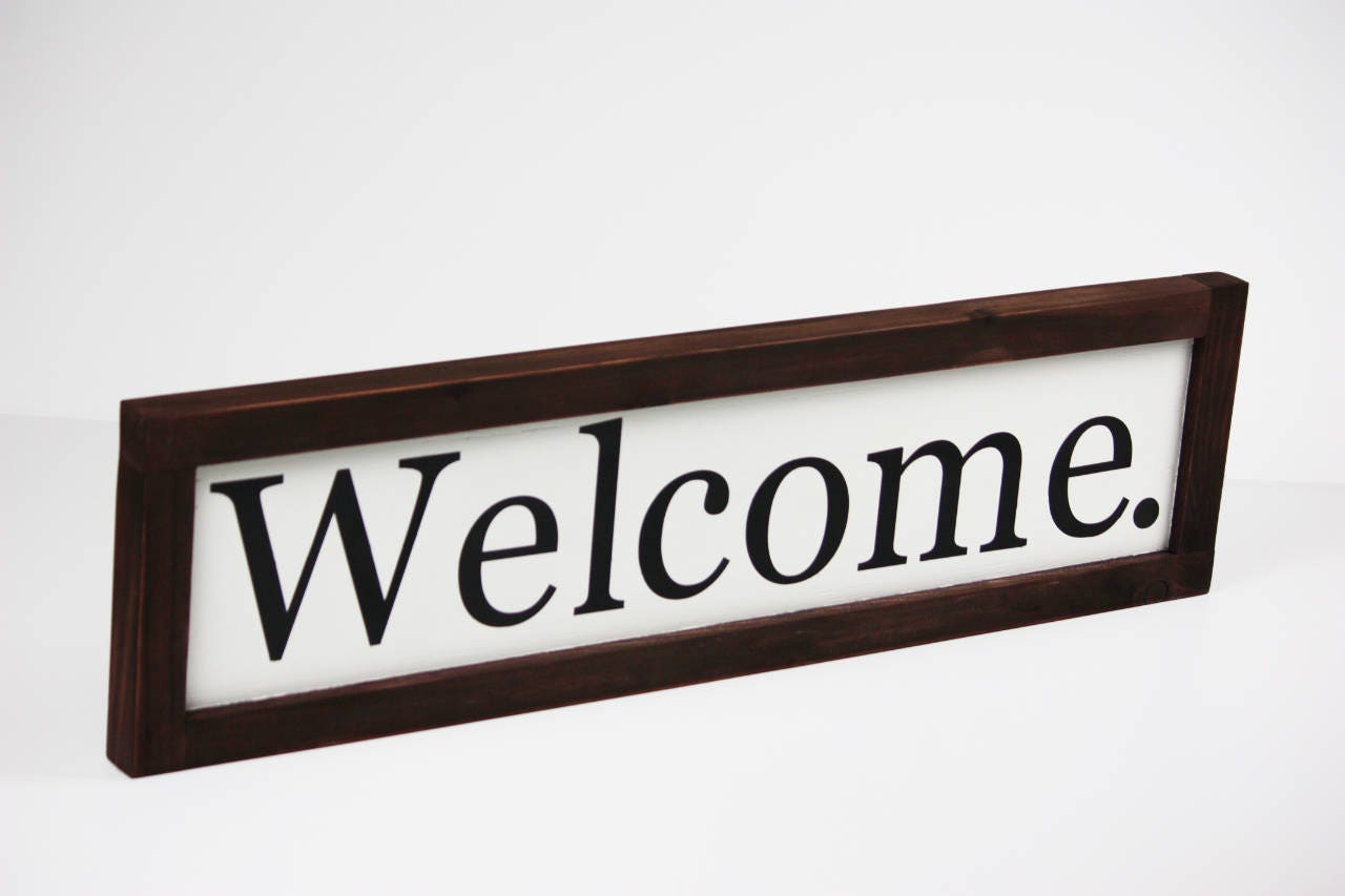 Welcome | Welcome Rustic Signs | Home Decor | Wooden Welcome Sign ...