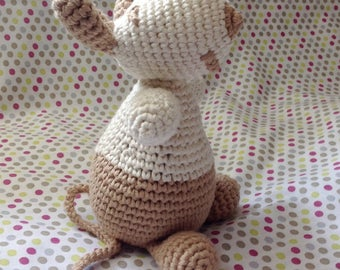 Toy mouse handmade crochet