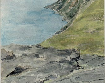 Tip of the tidal 2015 - 14x19cm - watercolor