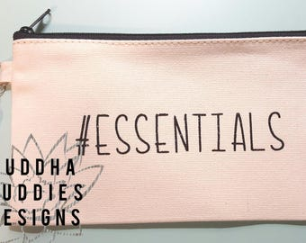 zippered canvas pouch with tassel