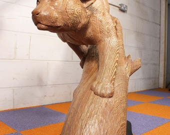 Life Sized Puma Carving