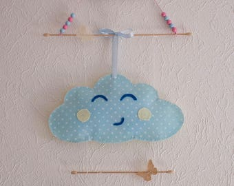 Mobile cloud baby room decoration