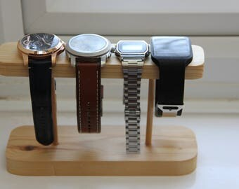Watch stand handmade made of wood