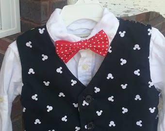 Boy's vest with bowtie