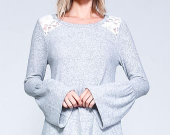 Vaneul Studio's Long Bell Sleeve With Laced On Shoulder Detail