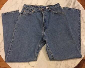 VINTAGE LEVI'S Orange Tab High Rise Mom Jeans Sz 12