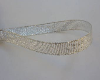 4 m Ribbon silver for the holidays