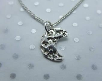 Handmade Silver Crescent Moon Pendant