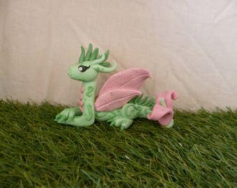 Dragon sculpture, polymer clay fantasy creature
