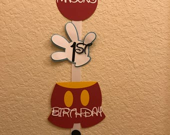 Mickey Mouse Birthday Sign Mickey Mouse Birthday Decorations