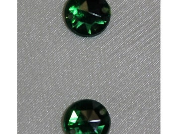 rhinestone round-11 mm - Green