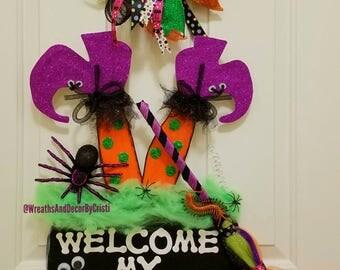 Cheap Door Hangers, Halloween Door Hangers, Wooden Door Hangers, Witch Door  Hanger,