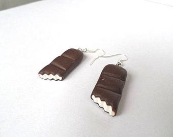 Kinder chewed polymer clay earrings