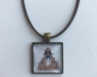 Rorscach from Watchmen glass pendant FREE SHIPPING!