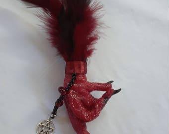 Red 'FU' chicken foot