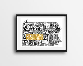 Pittsburgh Penguins Printable Wall Art