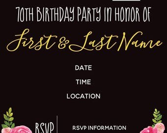 Birthday Invitation - printable