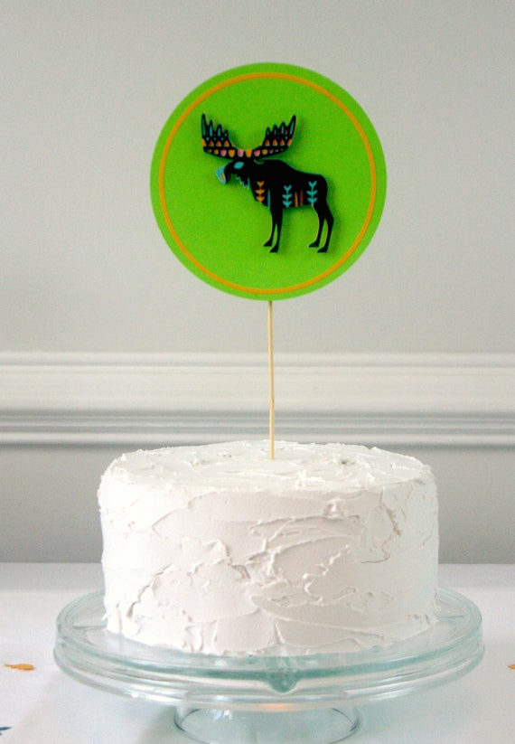 Moose Cake Toppermoose Partymoose Weddingmoose Cake Topperselk