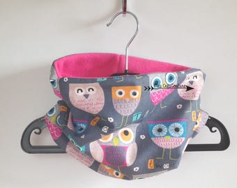 "Snood, neck winter ""Owls"" - size 2-6 years"