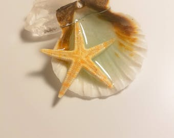 Real Starfish Mermaid Necklace