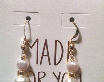 Cultured Pearl Gold Filled Earrings