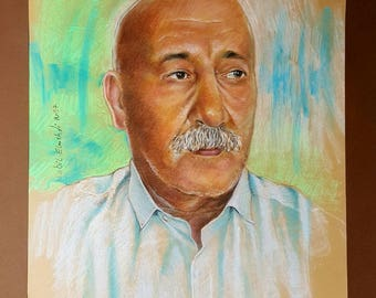 Pastel portrait from your photos.Individual Pastel Portrait. Commission Painting. Hand painted. Custom portraits. Family gifts.