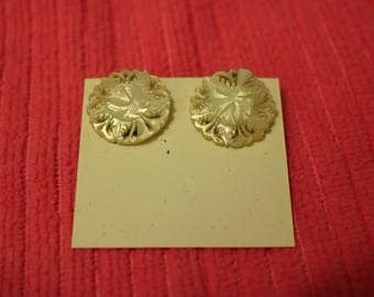 Lucite Button Clip On Earrings