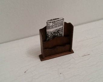 1/12th Scale Handmade Letter Rack