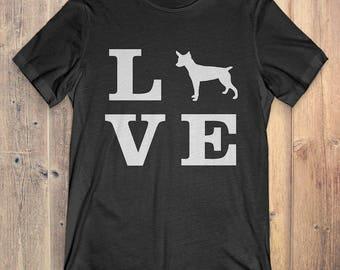 Rat Terrier Dog T-Shirt Gift: I Love Rat Terrier