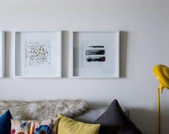 3 box framed painting's