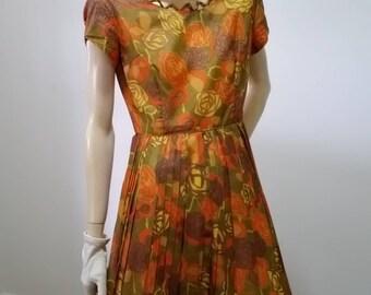 Pencil Pleat Dress