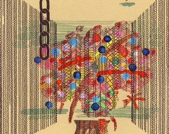 Flower Vase - Original art - Paras Dasot