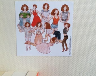 Baby from Dirty Dancing - Print / Impression - 21,7 x 21 cm