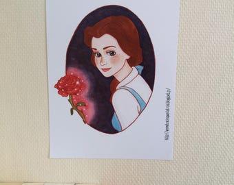 Belle Beauty and the beast / La Belle et la bête - Print / Impression - A4