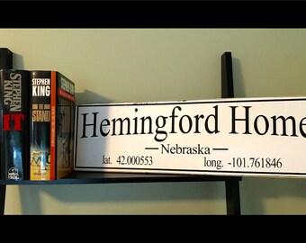 Stephen King Hemingford Home Sign