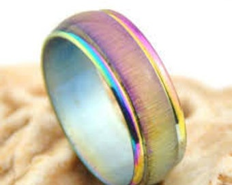 stainless steel cats eye ring