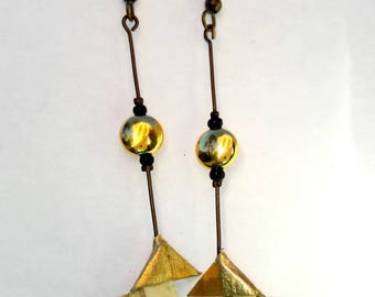 Origami paper earrings