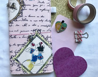 Disney Princess Fauxdori, Midori, Travelers Notebook, Fabricdori, Notebook Cover