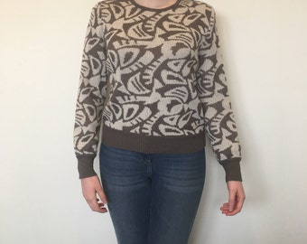 Vintage 80's Patterned Jumper