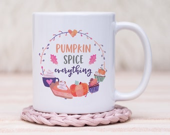 Pumpkin Spice Coffee Mug // Gift For Her, Planner Gift, Mother's Day Gift