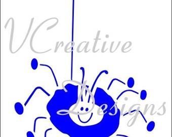 549 Cute Spider stencil